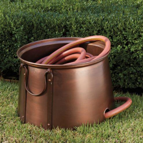Aged Copper Hose Pot