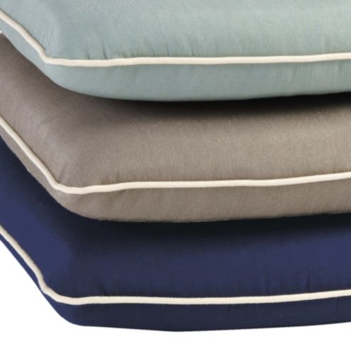 Contrast Welt Chair Cushion With Knife Edge D Ballard Designs
