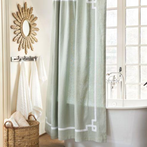 Suzanne Kasler Greek Key Shower Curtain