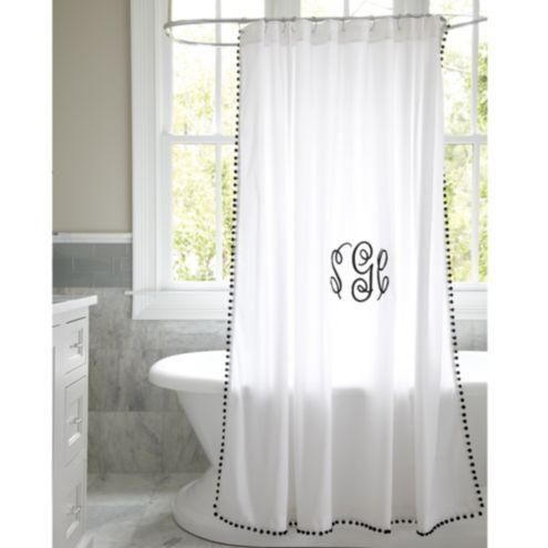 Ballard Designs Shower Curtain.Audree Pom Pom Shower Curtain Ballard Designs Ballard