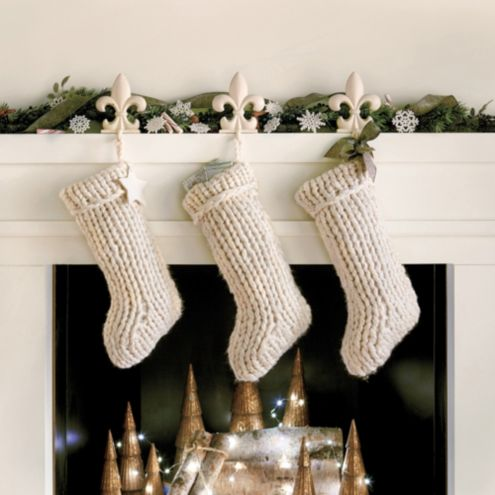 Knitted Christmas Stockings.Chunky Knit Stocking