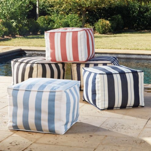 Terrific Outdoor Pouf Machost Co Dining Chair Design Ideas Machostcouk