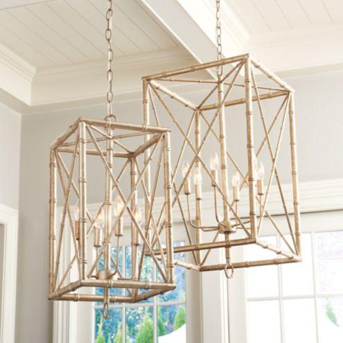 Bamboo Rectangular Pendant Ballard Designs