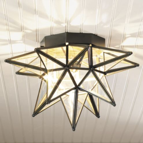 Moravian Star Ceiling Mount Sconce