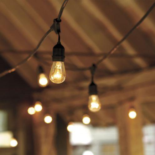Vintage String Lights With Bulbs, Ballard Designs Outdoor Lighting