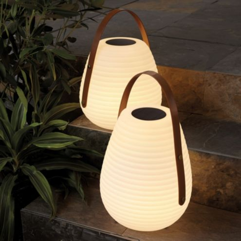 Large Outdoor Solar Lantern, Ballard Designs Outdoor Lighting