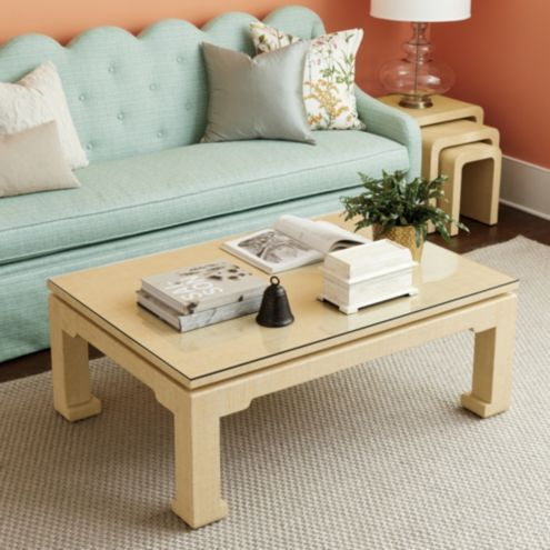 Bunny Williams Raffia Wrapped Coffee Table by Ballard Designs