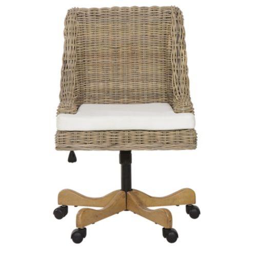 Chastain Woven Rattan Desk Chair