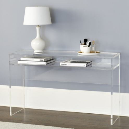 Alissa Acrylic Console Table