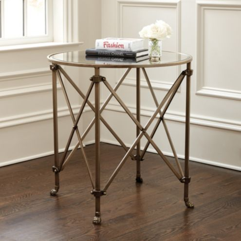 Olivia 30 Round Mirrored Side Table