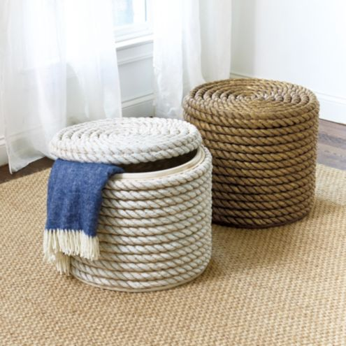 Remarkable Destin Rope Storage Ottoman Andrewgaddart Wooden Chair Designs For Living Room Andrewgaddartcom