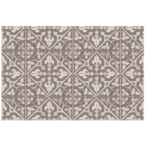 Fleur De Lis Design Plastic Floor Mat