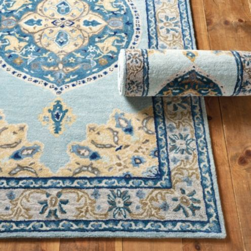 Adara Hand Tufted Oushak Style Blue