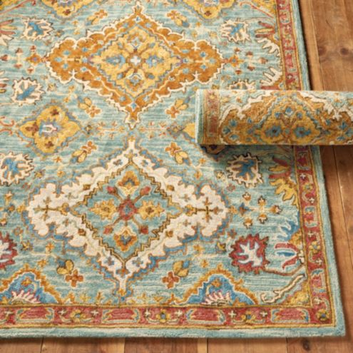 Tiago Hand Knotted Tribal Style Area Rug