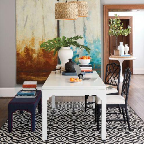 Saratoga Extension Dining Table Ballard Designs