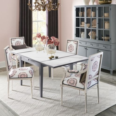 Cesson Extendable Tile Top Dining Table