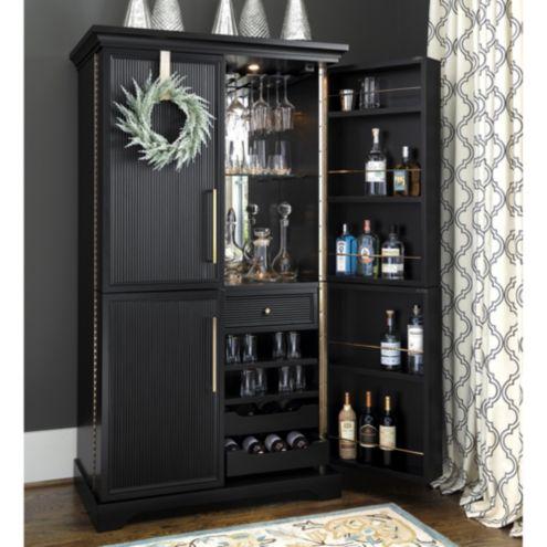 Picard Bar Cabinet Ballard Designs, Liquor Bar Furniture