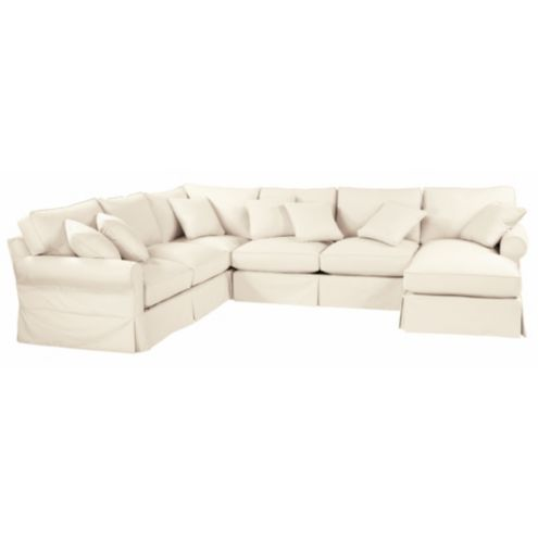 Merveilleux Baldwin 4 Piece Sectional   Right Arm Chaise, Left Arm Loveseat, Armless  Loveseat , And Corner Frame | Ballard Designs