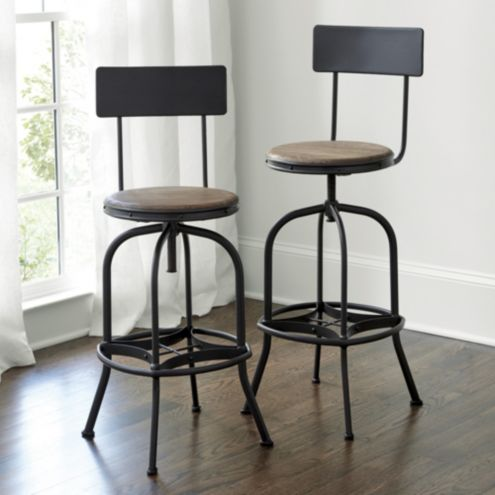 Allen Stool With Backrest