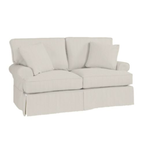 Sensational Davenport Loveseat Slipcover Stocked Select Options Machost Co Dining Chair Design Ideas Machostcouk