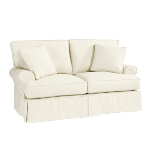 Enjoyable Davenport Loveseat Slipcover Only Stocked Machost Co Dining Chair Design Ideas Machostcouk