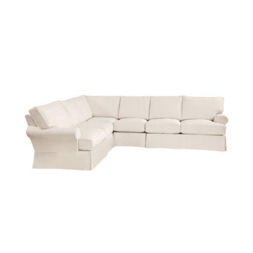 Davenport 4-Piece Sectional Slipcover - Stocked