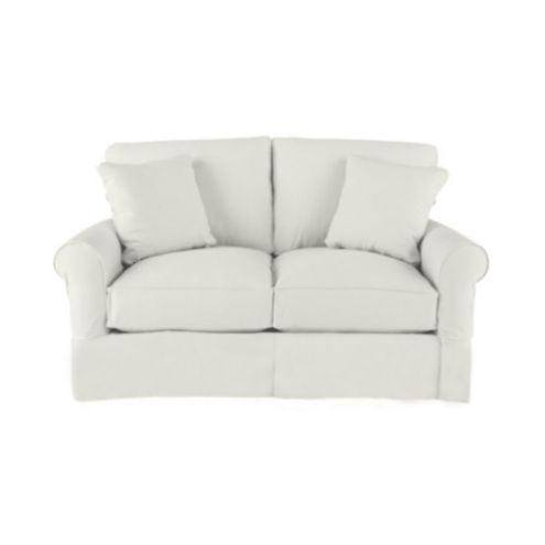 Super Suzanne Kasler Linen Baldwin Loveseat Slipcover Ballard Machost Co Dining Chair Design Ideas Machostcouk