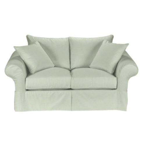 Pleasing Suzanne Kasler Linen Vv Loveseat Slipcover Ballard Designs Machost Co Dining Chair Design Ideas Machostcouk