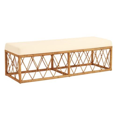 Excellent Suzanne Kasler Southport Rattan Bench Ibusinesslaw Wood Chair Design Ideas Ibusinesslaworg