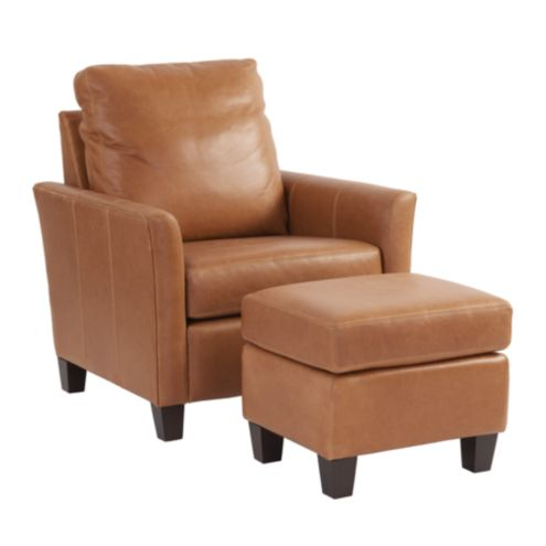 Brilliant Layla Leather Chair Ottoman Pdpeps Interior Chair Design Pdpepsorg