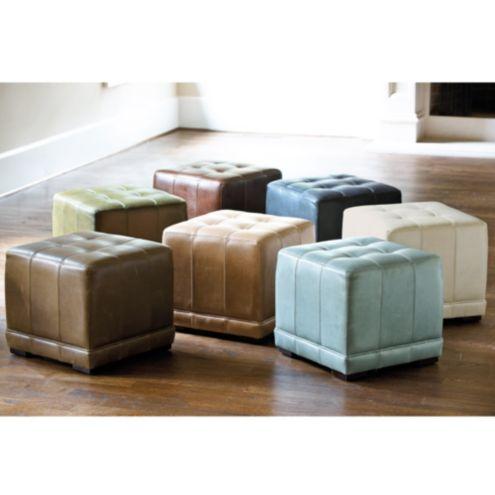 Fabulous Leather Cube Ottoman Ballard Designs Ballard Designs Short Links Chair Design For Home Short Linksinfo