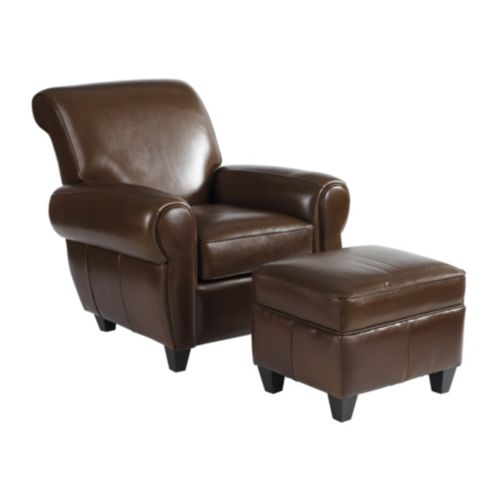 Surprising Paris Leather Chair Ottoman Ncnpc Chair Design For Home Ncnpcorg