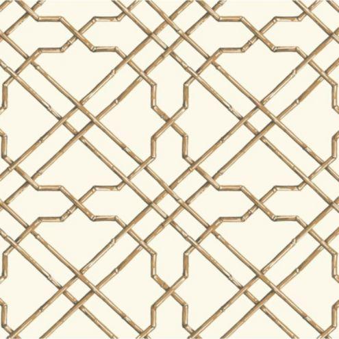 Bamboo Trellis Wallpaper Double Roll Ballard Designs