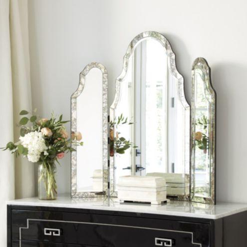 Vanity Mirror.Miles Redd Tri Fold Vanity Mirror
