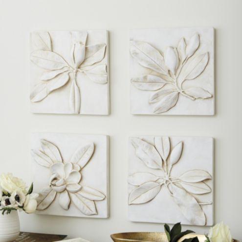 Magnolia Plaques   Set Of 4 by Ballard Designs