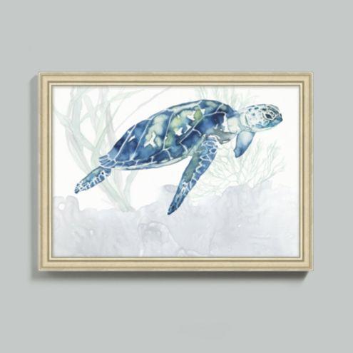 Watercolor Sea Turtle Art | Ballard Designs | Ballard Designs