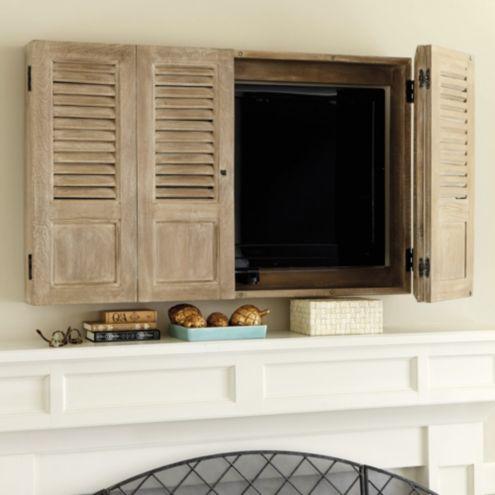 Shutter Tv Wall Cabinet Ballard Designs
