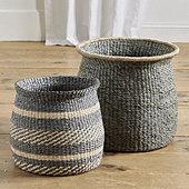 Round Raffia Baskets