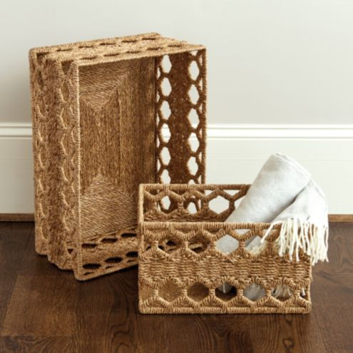 Honeycomb Woven Baskets
