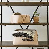 Leather Baskets - Set of 2