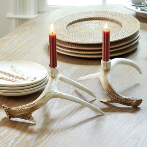 Faux Antler Candle Holders Set Of 2