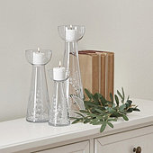 Joanie Etched Glass Candleholder