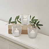 Gold Rim Votives - Set of 3