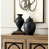 Suzanne Kasler French Bisque Lamp Slips - Black