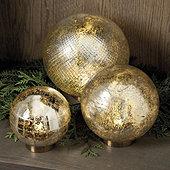 Mercury Glass LED Globe