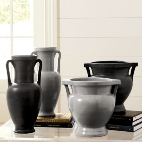 Ancient Grecian Vases Gray