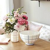 Spring Check Bowl & Vase
