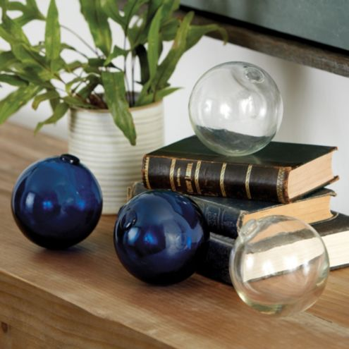 Decorative Glass Balls Set of 4