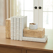Wooden Bookends - Set of 2