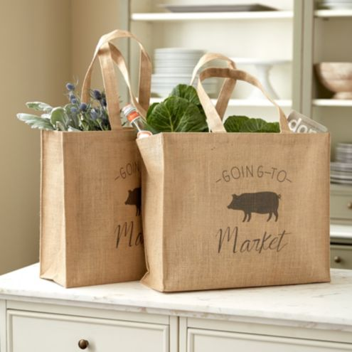 Piggy Goes To Market Totes - Set of